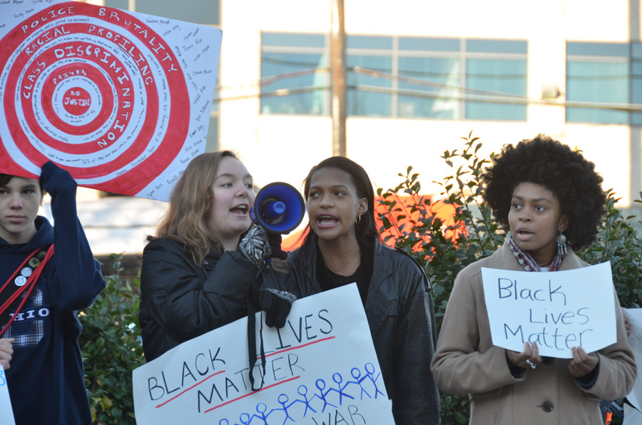 Students and Staff Protest Against Police Brutality