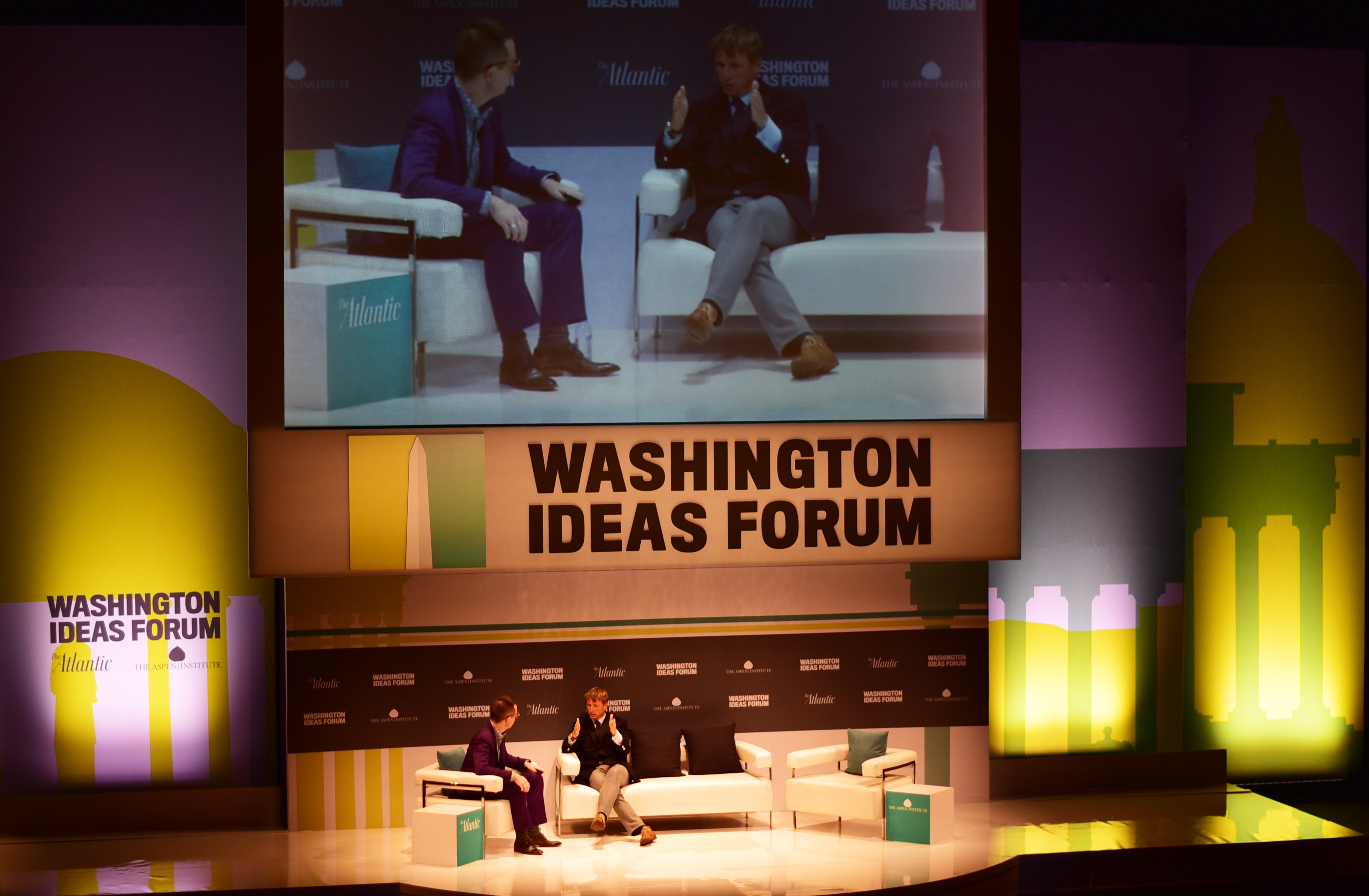 Journalists, mostly from Atlantic Magazine, interviewed newsmakers on September 30 and October 1, spreading ideas and information at the Washington Ideas Forum.