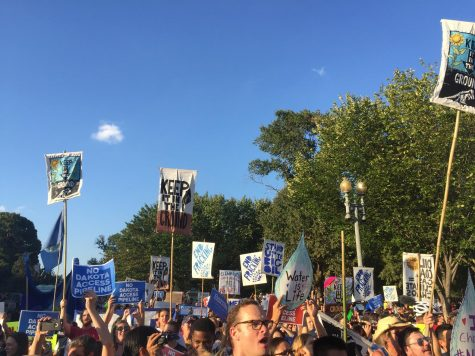 Protestors take to Capitol Hill to express outrage over the Dakota Access Pipeline