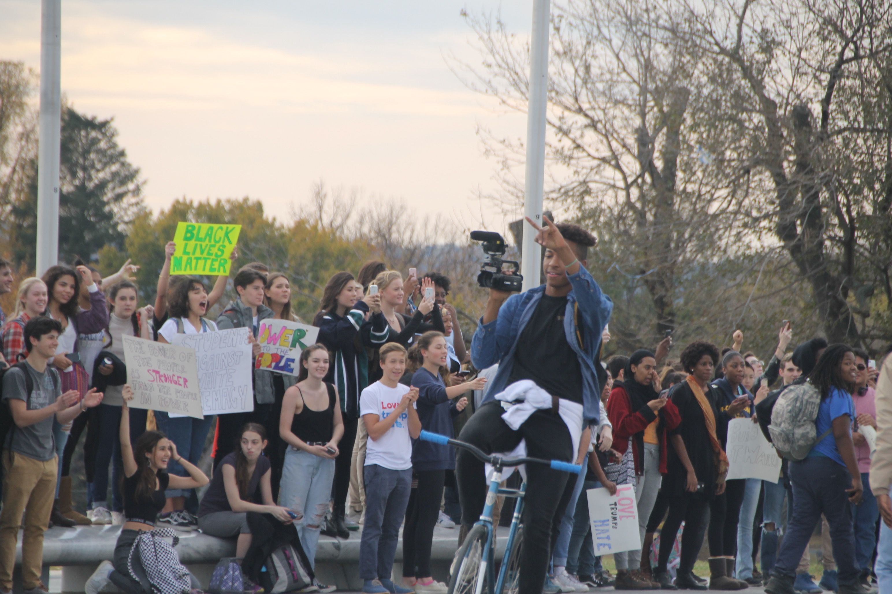VIDEO: DC youth make their voices heard in peaceful demonstration