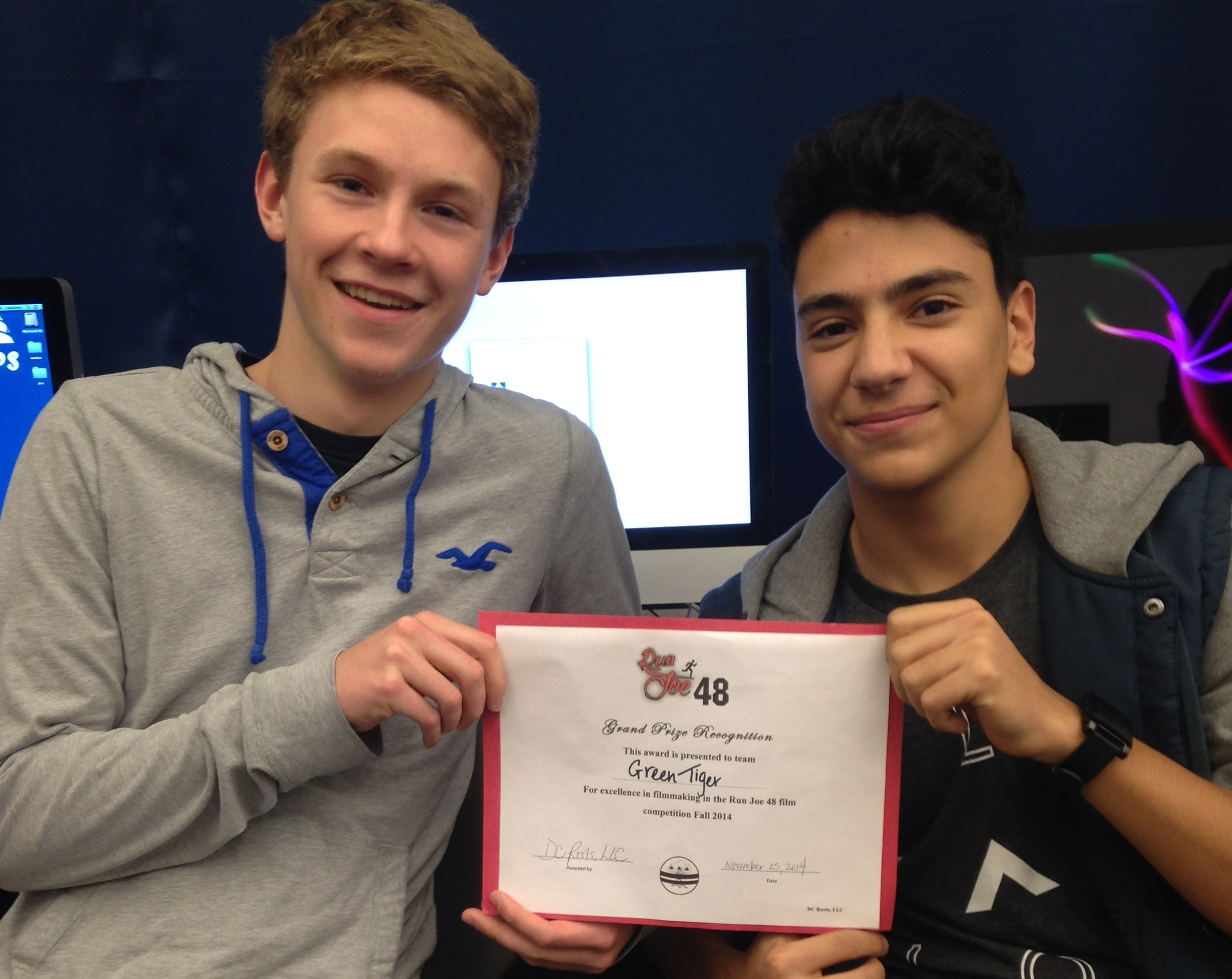Evan Pisani and Carl Stewart Win Local Film Contest