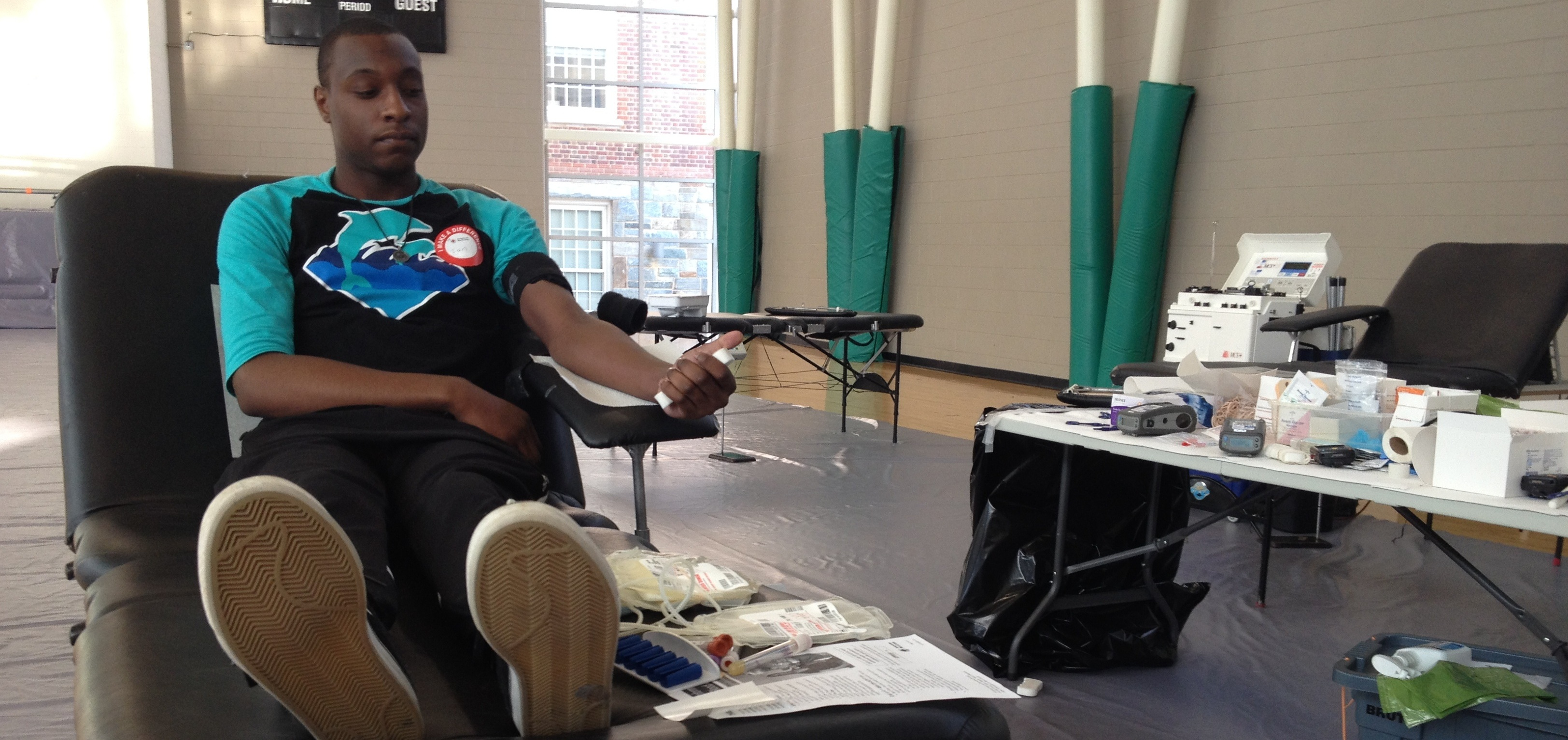 Blood Drive Not for the Faint of Heart