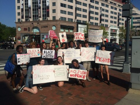 Students March Against Police Brutality in Friendship Heights