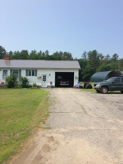 A one story ranch house common throughout Maine