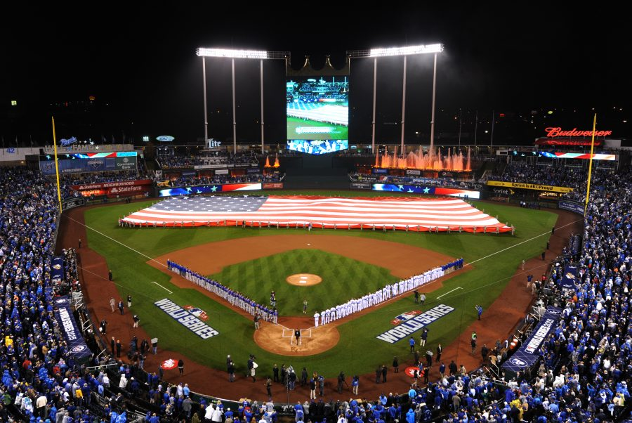 Members+of+Team+Whiteman+take+part+in+a+flag+ceremony+during+pregame+ceremonies+of+the+World+Series+game+one+at+Kauffman+Stadium+in+Kansas+City%2C+Mo.%2C+Oct.+27%2C+2015.++More+than+100+service+members+participated+in+the+flag+ceremony+that+took+place+before+the+game+where+the+Kansas+City+Royals+defeated+the+New+York+Mets+5-4+in+14+innings.+%28U.S.+Air+Force+photo+by+Tech.+Sgt.+Miguel+Lara+III%2FReleased%29