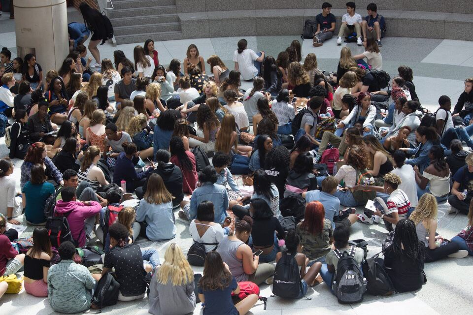 Wilson students sit down to stand up against gun violence