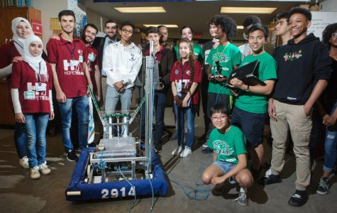 Syrian robotics team stops by Wilson