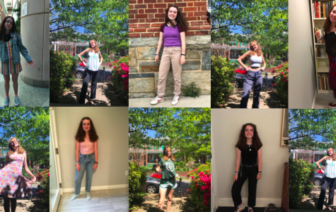 A series of spring outfits
