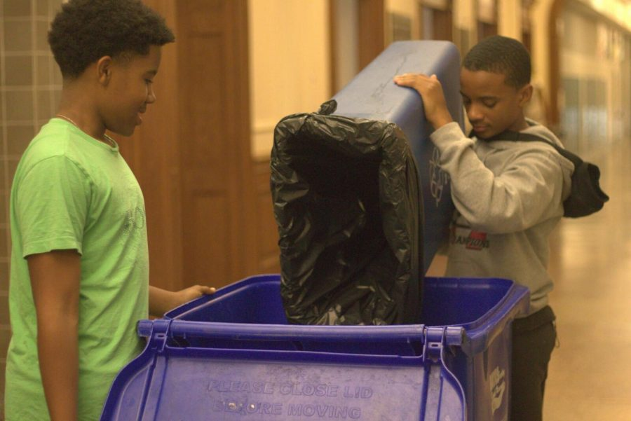 Dr. Moore seeks to instill environmental consciousness through mandatory recycling for students