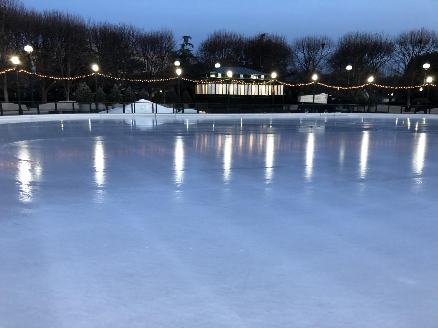 The ice rink at the Sculpture Garden (Photo courtesy of Ruby Mason)