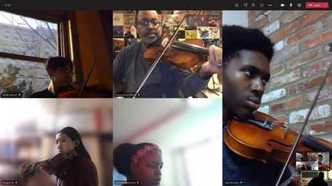 Wilson orchestra adapts to online learning