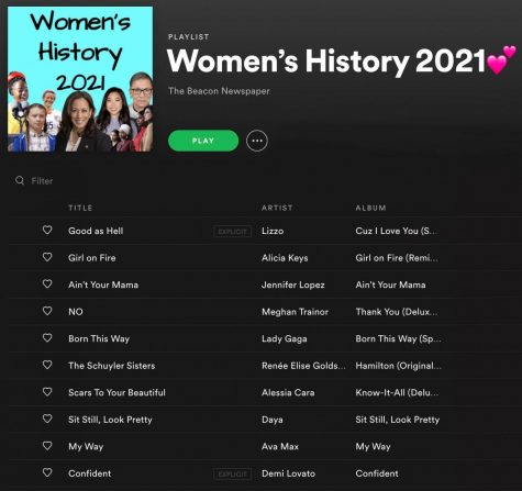 Ten songs for Women's History Month